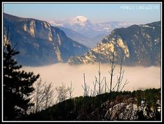 GENGA (AN)- FRASASSI GORGE EMERGING FROM THE FOG by MarcoLorenzetti.deviantart.com on @deviantART