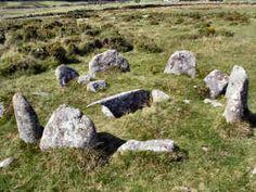 Burial Cist on Twelve Men's Moor, Bodmin Moor, Cornwall.
