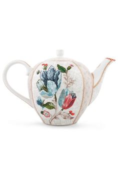 Show details for Spring to Life Tea Pot Off White Porcelaine, Essayer,  Projets, f315878c11ce