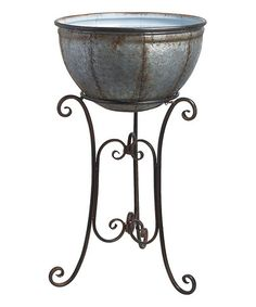 Loving this 36'' Weathered Standing Planter - Set of Three on #zulily! #zulilyfinds