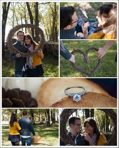 Rustic outdoor engagement inspiration board