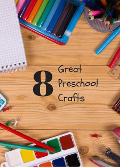 8 Great Crafts for Preschoolers http://meaningfulmama.com/2014/08/8-great-preschool-crafts.html