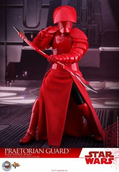 With less than a month to go, Hot Toys is ramping up production of their Star Wars: The Last Jedi figures. Next up is the imposing Praetorian Guard.