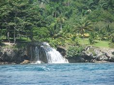 Ocho Rios Jamaica  We sailed by this very waterfall on our honeymoon