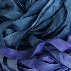 ribbon, a product? a sumptuous blue the color of the carpet in the drawing room at Langleys