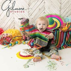 After Vincent finished his cake, he beat it like a drum cake smash photo session #gilmorestudios #cakesmash #1stbday #1yearold #birthdayfiesta #fiestatheme #cake #birthdaycake #orangecounty #costamesa #instatoddler #mexico #poncho #babyphotographer #kidsportrait #birthday #igbabies #babiesofIG GilmoreStudios.com