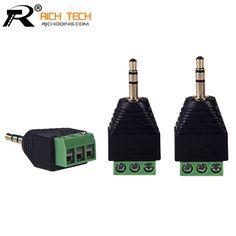 3,5mm 3 ploe 1/8 Zoll Stereo Stecker auf AV Schraube Video Balun Terminal Jack 3,5mm Männlichen 3 pin Terminal Block Plug stecker
