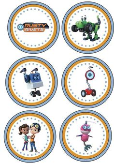 Items similar to Rusty Rivets Birthday Banner/Rusty Rivets Birthday Party/Rusty Rivets Party Decor/Rusty Rivets Cupcake Toppers on Etsy Fourth Birthday, 6th Birthday Parties, Happy Birthday Banners, Birthday Party Decorations, Construction Party, Ideas Para Fiestas, Party Items, Baby Party, Birthdays