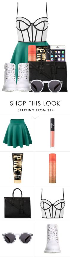 """Saturday"" by ashcake-wilson ❤ liked on Polyvore featuring CO, NARS Cosmetics, Yves Saint Laurent, Topshop, Illesteva and Timberland"