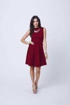 Mikaela Mock Neck Dress