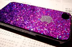 Blush Nail Polish iphone 5 4s case iphone 4 case iphone 4s case iphone 5 Cover Purple Fade color glitter Glittery Sparkly Sparkle Bling