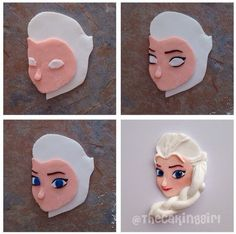 Disney Frozen Elsa cupcake topper step-by-step