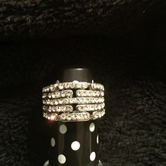 Fashion Ring Sparkly-  5 rows of CZ Jewelry Rings
