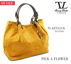 Pick a Sale's Flower...#Fashion Suede Leather Flower Design Shopping #Bag #tuscanyleather
