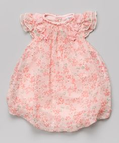 Love this Pink Floral Bubble Bodysuit - Infant on #zulily! #zulilyfinds