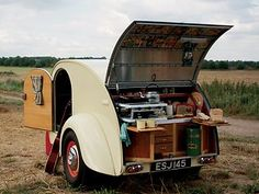 I think a teardrop trailer would be so much fun to have...what a great way to travel. Just hook it to your car and go. No need for hotels!