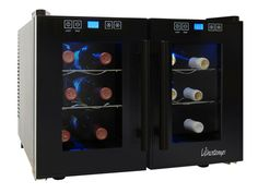 12 Bottle Thermoelectric 2-Zone Wine Cooler | MyWineConcierge.com