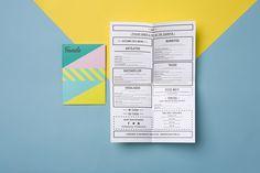 Fonda visual identity and menus designed by Wildhen Design.