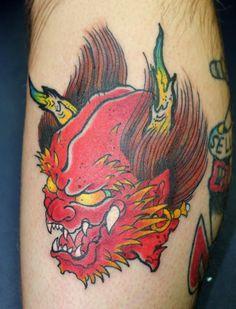 Japanese and Asian Tattoos Asian Tattoos, Sweet Tattoos, Raijin Tattoo, Japanese Demon Tattoo, Chinese Tattoo Designs, Animal Tatoos, Tattoo Apprenticeship, Graphic Novel Art, Japanese Mythology