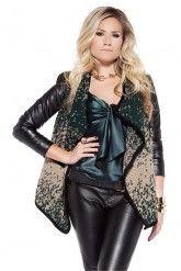 Knitwear Jacket Donkergroen | Nikkie by Nikkie Plessen