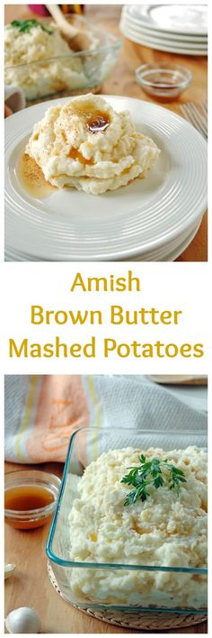 These Amish Brown Butter Mashed Potatoes are absolutely divine and gluten free! My favorite mashed potatoes ever.