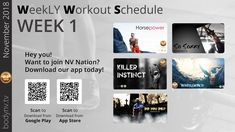 Weekly Workout Schedule, Fun Workouts, November, How To Plan, Tv, November Born, Television Set, Television