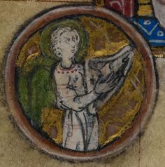Detail from medieval manuscript, British Library Stowe MS 17 'The Maastricht Hours', f157v