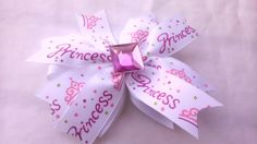 Pretty Little Princess Stacked Hair Bow by AmalieBowtique on Etsy, $8.00
