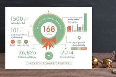 Holiday Infographics Business Holiday Cards by Frooted Design at minted.com