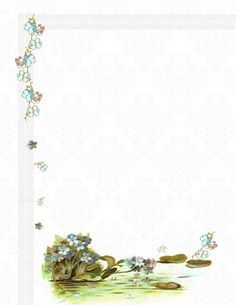 Free printable Forget-Me-Not Flower Stationary. This is so pretty and feminine. Print it on a nice card stock and write something. Or us it as stationary with the printer.