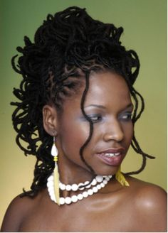 From Locs Revolution This is beautiful ! Short Locs Hairstyles, Natural Afro Hairstyles, Bride Hairstyles, Natural Hair Styles, Long Hair Styles, Natural Beauty, Dreads Styles For Women, Dark Skin Models, Beautiful Black Hair