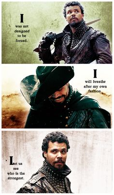 The Musketeers - Porthos, 'I was not designed to be forced. I will breathe after my own fashion. Let us see who is the strongest.' - Henry David Thoreau