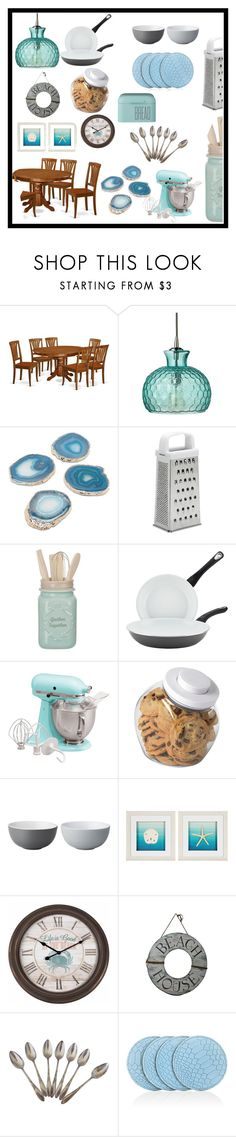 """""""Serve it Up: Dream Kitchen"""" by mcculleysadie on Polyvore featuring interior, interiors, interior design, home, home decor, interior decorating, Jamie Young, Farberware, KitchenAid and OXO"""