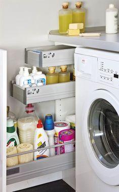 Trendy Home Organization Laundry Pantries Modern Laundry Rooms, Farmhouse Laundry Room, Laundry In Bathroom, Laundry Room Colors, Laundry Room Organization, Estoque Do Trailer, Bathroom Interior, Interior Design Living Room, Laundry Room Inspiration