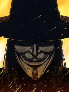 """Select Personal Pieces - 2011 / Personal illustration based off of the film,""""V for Vendetta"""". Completed for the fifth of November - Brian Luong Comic Manga, Comic Art, Comic Books, V Pour Vendetta, V For Vendetta Comic, The Fifth Of November, Vertigo Comics, Guy Fawkes, Anime Meme"""
