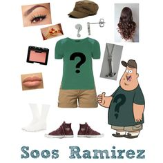 Soos Ramirez from Gravity falls by zamantha-palazuelos on Polyvore featuring polyvore, fashion, style, Dorothy Perkins, Sloosh, Fresh Made, Converse, Forever 21, 2b bebe, Lancôme and NARS Cosmetics