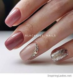 My kind of gel manicure, pink and nude | Inspiring Ladies