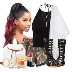 #358 by gorgeousmama29 on Polyvore featuring polyvore fashion style Fergalicious Charlotte Russe Vince Camuto GUESS MAC Cosmetics