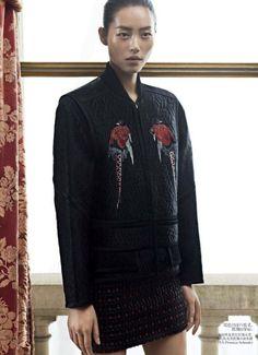 Publication: Vogue China December 2012  Model: Liu Wen  Photographer: Karim Sadli