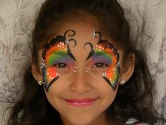 MARIPOSA MULTICOLOR ( PINTACARITAS ).- FACE PAINTING BUTTERFLY. - YouTube