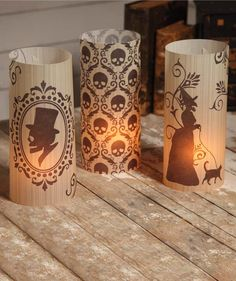 Silhouette Luminaries from The Holiday Barn