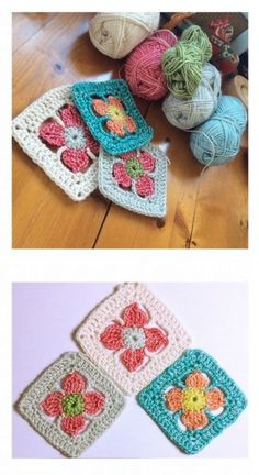 crochet flower granny square