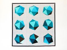 Spinning Icosahedron Quilt  8 Blocks / 24 Finished  von MiniASD