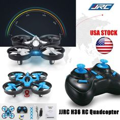 JJRC H36 Mini 2.4G 4CH 6-Axis 3D-Flip Drone Gyro Headless Mode RTF RC Quadcopter (Gray) *** Want additional info? Click on the image.