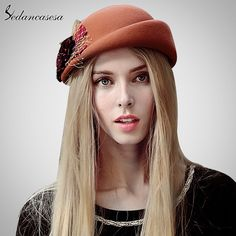 Beret Hat women autumn winter Korean bowler retro British beret hat for warm Australian wool felt hat gift Great, huh? #shop #beauty #Woman's fashion #Products #Hat
