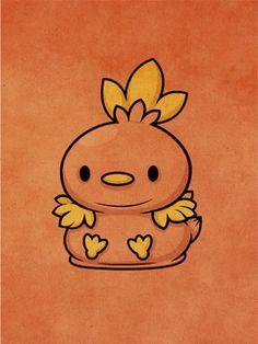 Pokemon - Torchic by ~beyx on deviantart