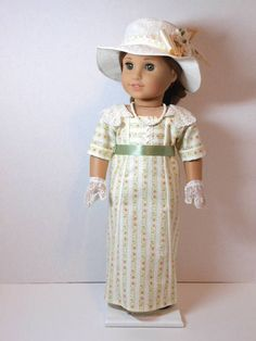 Early 1900's Lady Rebecca Afternoon Tea Dress, Hat, Gloves and Necklace by ThreadsOfTroy via Etsy, $78.00