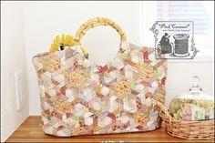 ❤ =^..^= ❤  Pink Caramel | Hexagonal Pinwheel Bag original pattern