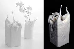 Fluid vase by Fung Kwok Pan Design. Fluid vas e is a vase designed by simulating fluid action.