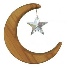Wooden Moon Suncatch